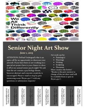 Senior Night Art Show Flyer (2)